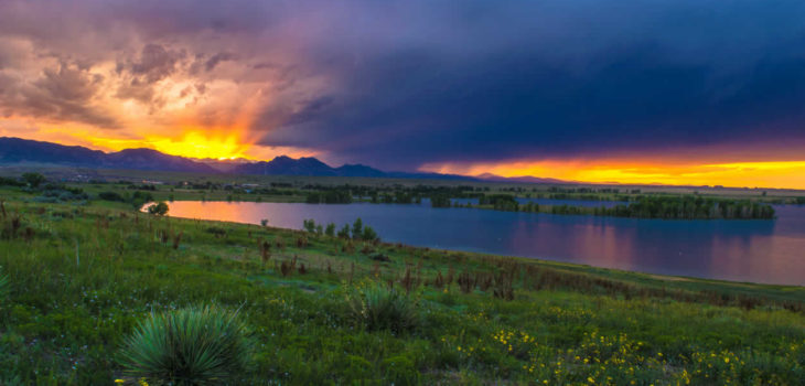Sunset Over Coot Lake In Boulder