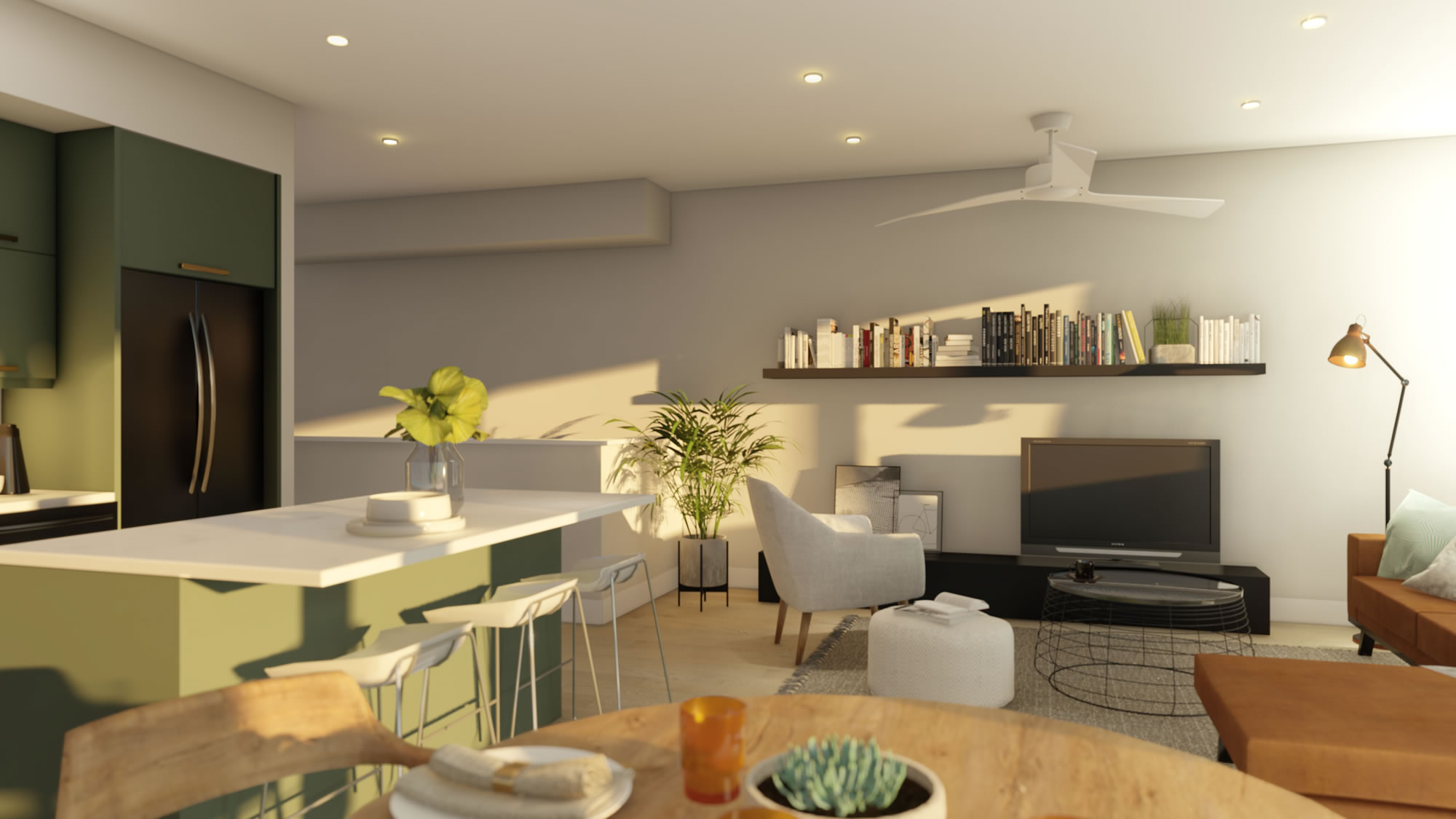 Hybrid Plan Dining Area