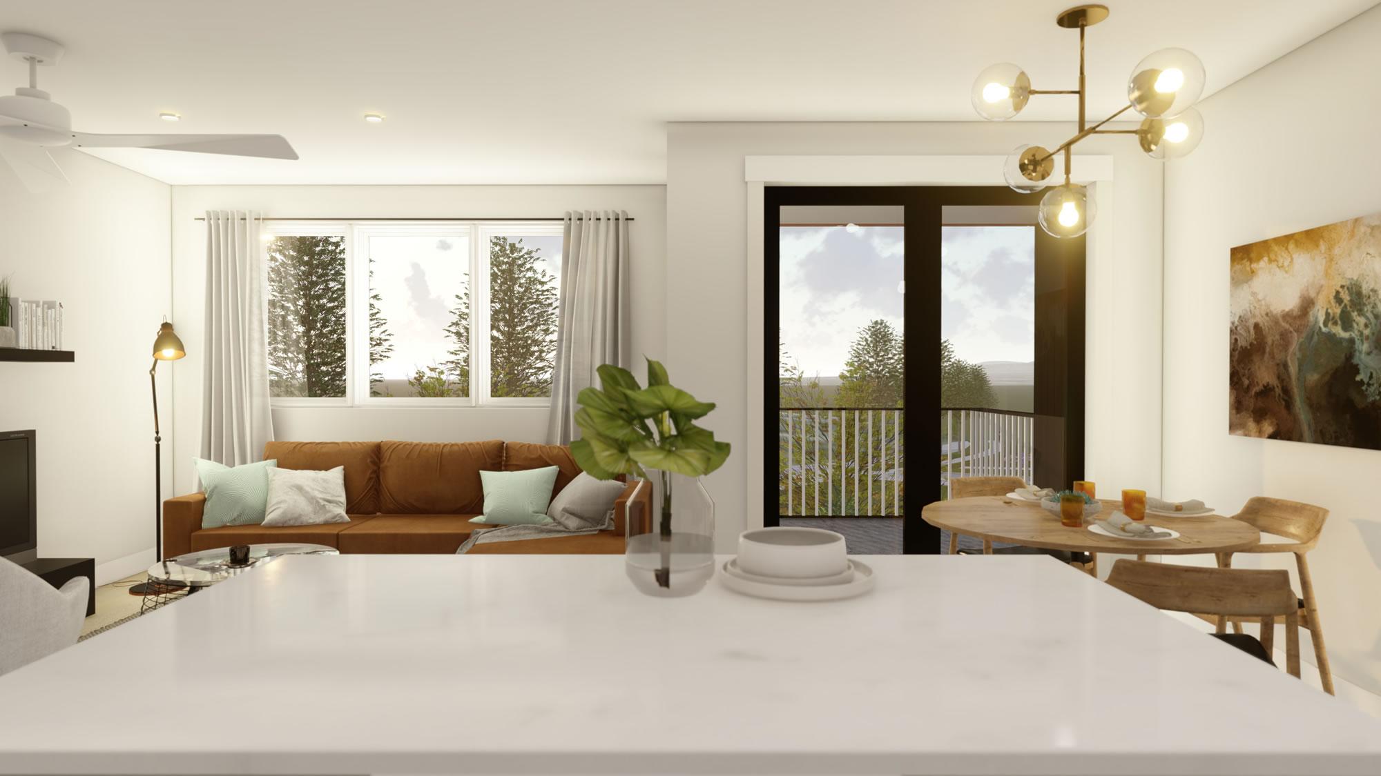 Hybrid Plan Living Area