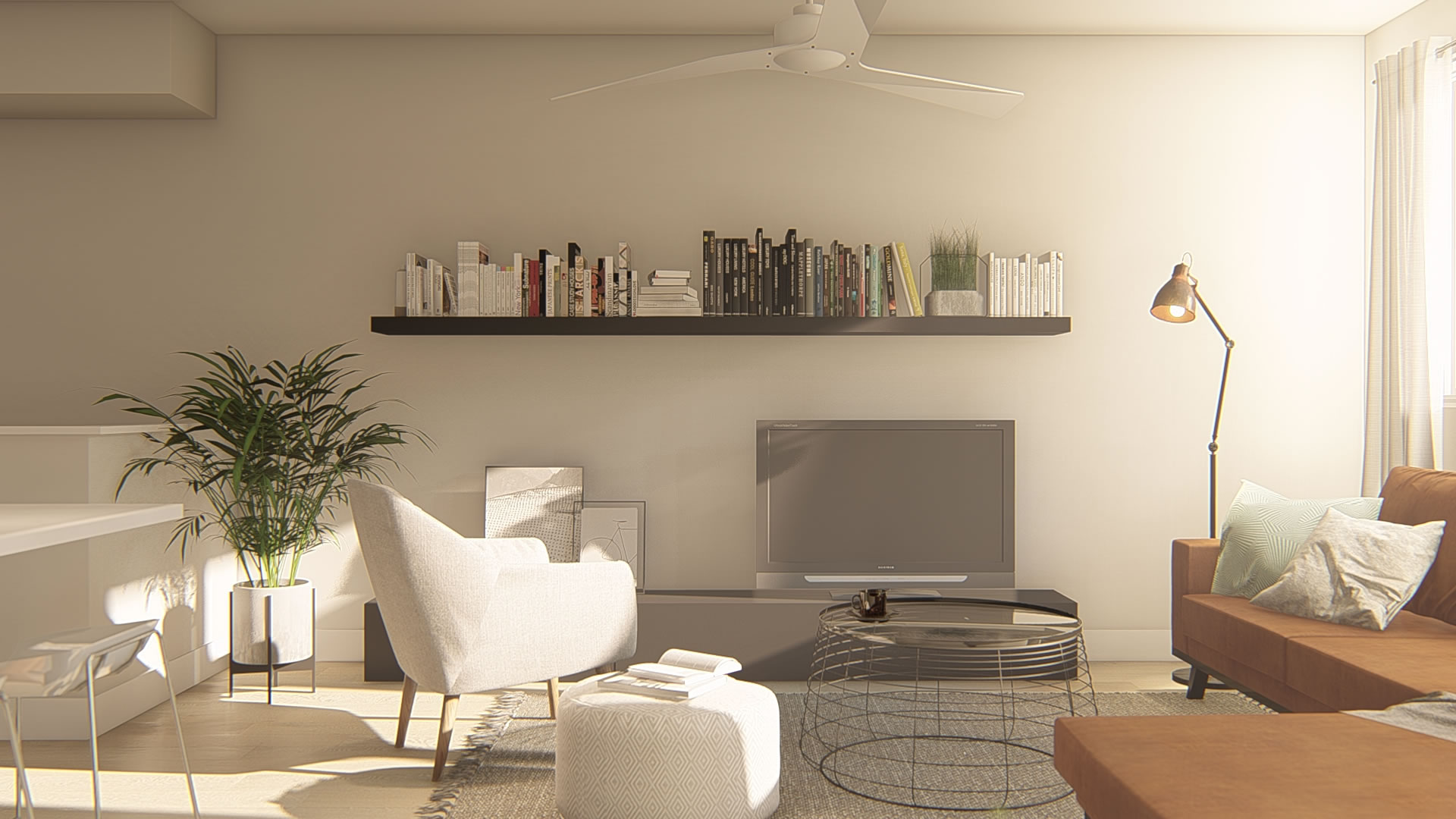 Hybrid Plan Living Area